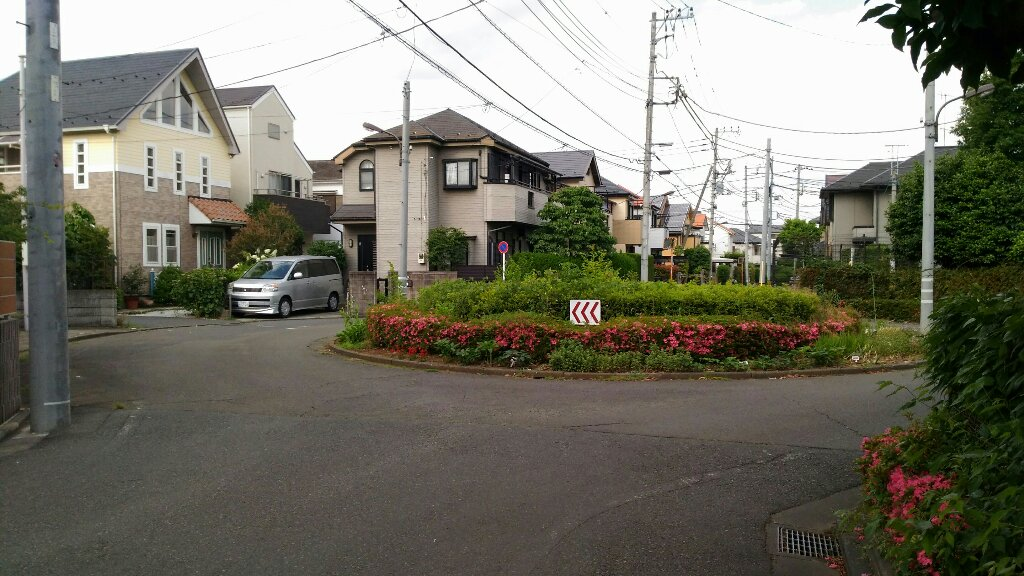 立川市栄町江の島住宅 円形交差点
