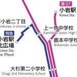 シャトル☆セブン(京成バス) 路線図