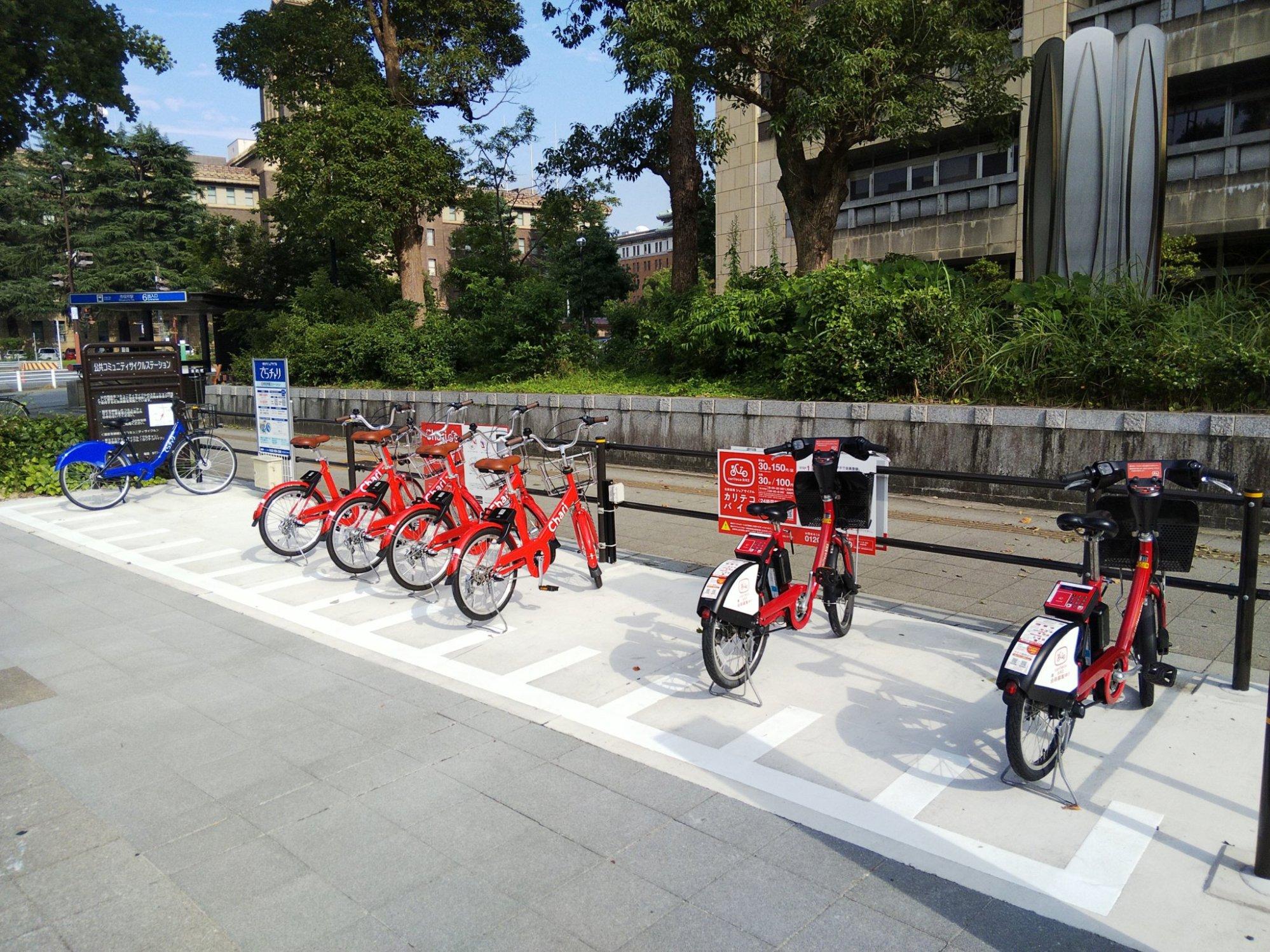 名古屋のシェア自転車 三つ巴の争いに